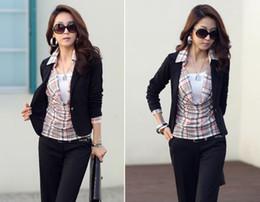 Wholesale Vogue Lady Suit Coat Blazer One Button Shrug Shoulder formal Jackets ja191