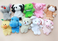 china dolls - finger puppets Plush Animal finger doll Christmas gifts Baby dolls by china post