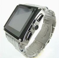 Wholesale Hot inch waterproof watch phone stainless steel W818 with blueth FM GPRS Camera MP3 MP4 player