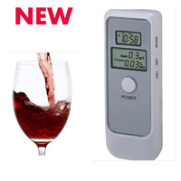 Wholesale Hot MIni in1Alcohol Digital Double LCD Screen Tester Breath Analyzer Display Acohol breathalyzer