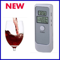 Wholesale 10pcs MIni Alcohol Digital Double LCD Screen Tester Breath Analyzer Display Acohol breathalyzer