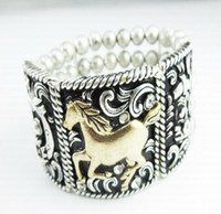 Wholesale European and American vintage jewelry alloy horse fashion pattern bracelet