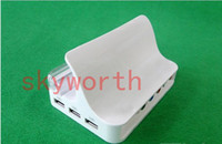 Wholesale HDMI VGA Y Pb Pr USB Multi function Docking for ipad ipad2 iphone S support System
