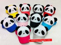Wholesale New Fashion Panda Cap Parent child Style baseball caps peaked hats ball hat color