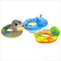 Wholesale Kids Animal Design Swimming Ring Swimming Pool Inflatable Swimming Boat Baby Swim Float