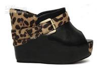 other Women  Women's Open Toe Platform Black Red Buckle Strap Wedge Heel Sandals Slippers Shoes dfg