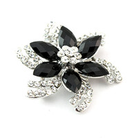 Wholesale Hot sale cheap fashion jewelry Fashion Brooches Alloy Rhinestone flower brooch F8