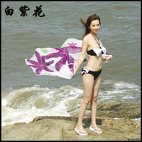 Wholesale Bikini scarf Beach Sarong Swimwear Scarf Shawl Flame Sarong Sexy Women Beachwear many colours SJ9