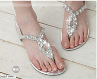 Wholesale 2012 New Fashion women lady flat heels diamonds sandals flat shoes colors free ship