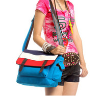 Wholesale 2012 spring college bag leisure joker canvas bag single inclined shoulder bag bag