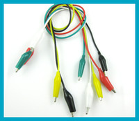 Multi- Colour Crocodile Alligator Clips Test Leads 45cm free ...