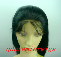 Wholesale full lace wigs indian remy human hair quot natural straight B small cap size