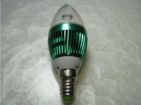 Wholesale 3W E14 E27 E26 LED Candle Light Bulb Lamp lights Energy saving lamp White AC85 V Screw base