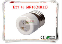 Wholesale Adapter Converter Led Halogen CFL light adapter MR16 E27 converter E27 to MR16 lamp holder adapter