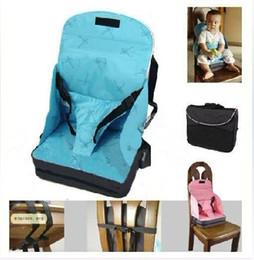Bébé / Toddler Portable pliant haut de sécurité chaise haute siège d'appoint bleu rose