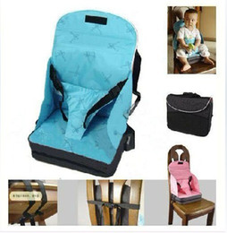 Baby   Toddler Portable Fold Up Safety High Chair Booster Seat Blue Pink