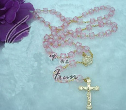 Wholesale Popular hot Sterling Silver plastic cross rosary necklace