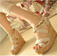 Wholesale 2012 New Fashion women lady Rome sandal platformed high heels sandal shoes pink blue white