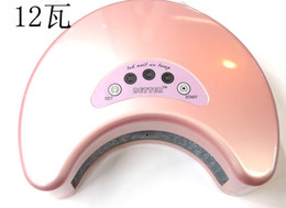 Wholesale W LED UV Gel Curing Lamp nail uv lamp Nail UV ultraviolet light LED nail lamp
