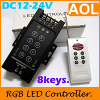 Wholesale 8KEYS V control M LED RGB Strip controller led controller flex strip RF remote