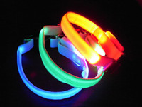 Wholesale XS Extra Small mini LED flashing LED pet Puppy Dog safety collar collars FEDEX UPS