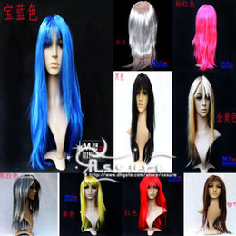 Wholesale Wigs Long Anime Cosplay Party Halloween Blonde pink blue white purple wig Christmas