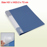 Wholesale A4 Clear Book School File Folder with Clear Pockets