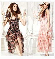 Wholesale Early summer new Harness flower Chiffon dress