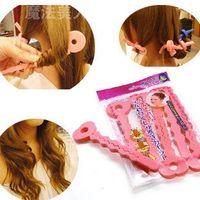 Wholesale Pop Pink Sponge Hair Soft Curler Roller Strip Curl Magic crimper Tool Twist beauty