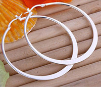 Wholesale High Quality Women s Silver Earring Jewelry Fashion Big Hoop Earrings Jewelry pairs