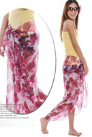 Wholesale women s print floral georgette Sarongs beach scarf Shawl Wraps hot sale
