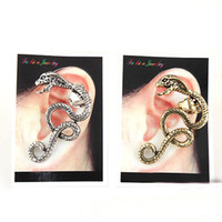 c037 - Snake Ear Cuff Fashion Pierced Jewelry Silver and Golden Colors Lead Free and Ni Free LM C037