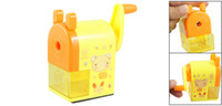 Wholesale School Office Cartoon Pattern Plastic Manual Pencil Sharpener