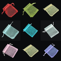 Wholesale 500 Mixed Jewelry Box Luxury Organza Jewelry Pouches Gifts Bags For Ring Wedding Gifts NA8