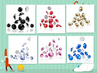 Wholesale Free Shopping Nail jewelry Nail drill stickers drill Nails flat drill Multicolor