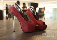 Wholesale SEXY HIGH HEELS SHOES PEEP TOE PUMPS BUCKLE STILETTO SANDALS BRIDAL SHOES asd