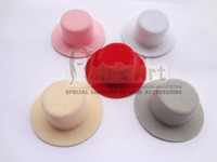 Wholesale 12pic Plain Mini Top Hat Cute Mini Hat cm Assorted Colors