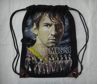 Wholesale LIONEL MESSI Head Portrait Bag Soccer Football Star Souvenir Barcelona Argentina Bags Pouch Sack