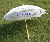 Wholesale Battenburg White Lace Parasol Umbrella Wedding Bridal White