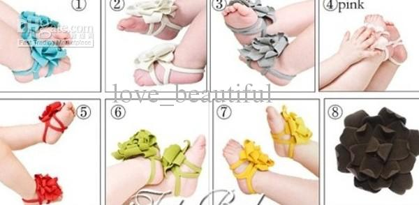 Hot Sale Top Baby Baby Shoes Barefoot Sandals Mix Barefoot Sandals ...