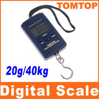 Wholesale 20g Kg Digital Scales LCD Display hanging luggage fishing weight scale H1765 navy blue
