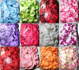3000pcs 12colors silk rose flower petal petals wedding favors party decoration