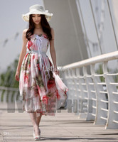Wholesale Hottest Summer Ladies Slim Bohemia Casual Chiffon Dress Beach Maxi Elegant Smock Boho Exotic Halter SS SHYD SF