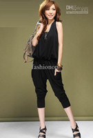 overalls - Jumpsuits Casual Elastic Overalls Hanging Neck Harem pants Strapless Soft Material SS Overalls