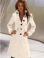 Coats Women Full_Length HOT! Women's Apparel Wool & Blends FOuterwear & Coats ashion Korea New Before and after Cut open Slim Cashmere Overcoat coats coat