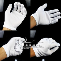 Wholesale White Gloves Fingerless Gloves Work Golf Gloves Working Gloves Split Leather