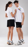 Wholesale badminton shirt Badminton wear New Victor A111 B111 sets shirt short skirt