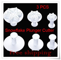 Wholesale Snowflake Plunger Cutter Mold Sugarcraft Fondant Cake Decorating DIY Tool