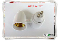 adapter e27 to gu10 - 100pcs GU10 to E27 lamp Adapter for all kinds of Led Halogen CFL light bulb lamp adapter E27 GU10 male to E27 female
