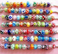 Pandola coloured glaze Beads DIY Beads Double 925 Charming B...